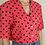 Thumbnail: Vintage Polka Dot Blouse in Watermelon Red