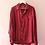 Thumbnail: 90s Vintage Silk Shirt in Wine Red - (EU52)