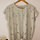 Thumbnail: Vintage Blouse in Beige with Cut Out Details
