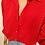 Thumbnail: Vintage Embroidered Collar Blouse in Red