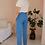 Thumbnail: 90s Vintage Linen Tapered Trousers - (EU38)