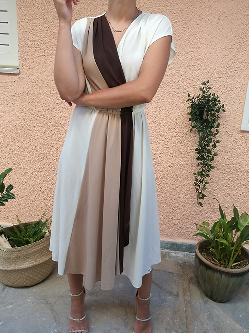 Vintage Minimal Maxi Dress In White