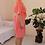 Thumbnail: 90s Vintage Linen Dress in Coral - (EU52)