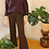 Thumbnail: Vintage 70s High Waisted Flares in Dark Brown, W31/L26