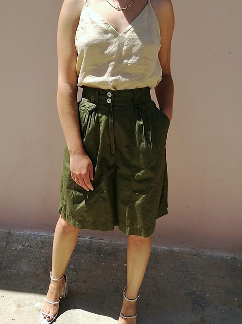 Vintage Cotton Shorts in Khaki