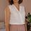 Thumbnail: 90s Vintage Cut out Blouse in White - (EU44)