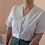 Thumbnail: 90s Vintage Embroidered Blouse in White - (EU44)