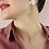 Thumbnail: 50s Vintage Mother of Pearl Fan Earrings