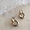 Thumbnail: Vintage Silver Plated Pierced Earrings