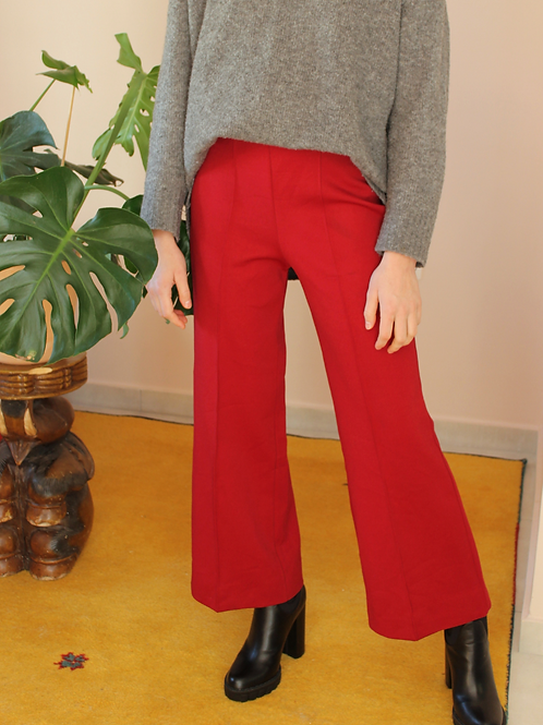Vintage 70s High Waisted Flares in Wine Red, W31/L28