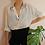 Thumbnail: 90s Vintage Minimal Button Up Shirt in White