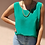 Thumbnail: Vintage Silk Sleeveless Top in Green