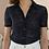 Thumbnail: Vintage Lace Blouse in Navy Blue - (EU40)