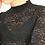 Thumbnail: 90s Vintage High Neck Lace Blouse in Black