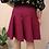 Thumbnail: Vintage Midi Ruffle Skirt in Burgundy