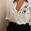 Thumbnail: Vintage 90s Collared Button Up Blouse in White