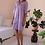Thumbnail: 90s Vintage Shirt Dress in Purple - (EU42-44)