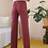 Thumbnail: 70s Vintage  High Waisted Trousers in Hibiscus Red, W27/L32