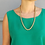 Thumbnail: Vintage Gold Toned Rope Chain Necklace