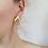 Thumbnail: Vintage Gold Toned Enamel Statement Earrings