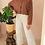 Thumbnail: Vintage Polka Dot Blouse in Rusty Brown