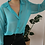 Thumbnail: Vintage 90s Sheer Button Up Shirt in Turqoise