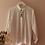 Thumbnail: 90s Vintage Minimal Button Up Shirt in Cream White