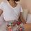 Thumbnail: 90s Vintage Floral Ruffle Skirt - (EU40-42)