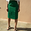 Thumbnail: Vintage Pencil Cotton Skirt in Green