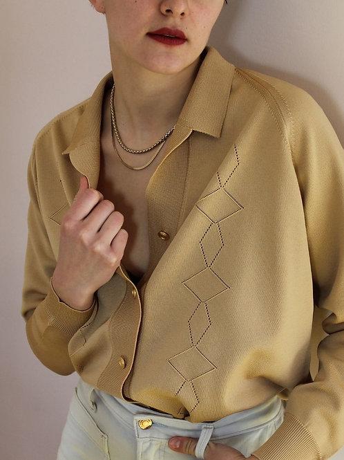 90s Italian Vintage Cardigan in Beige