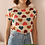 Thumbnail: 90s Vintage Silk Hearts Top - (EU42-44)
