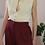 Thumbnail: Vintage Handknitted Wool Vest in Cream White