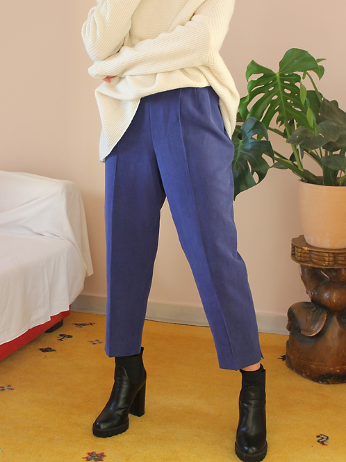 Vintage 90s Tapered Trousers in Electric Blue