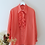 Thumbnail: Vintage Polka Dot Blouse in Red with Ruffle Neck