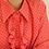 Thumbnail: 90s Vintage Ruffle Shirt in Red Polka Dot - (EU 54)