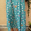 Thumbnail: Vintage Buttoned Up Maxi Skirt in Turquoise with Floral print