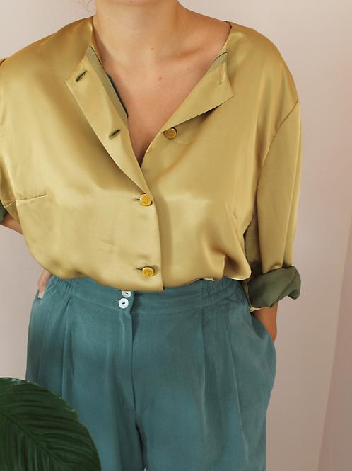 Vintage Button Up Shirt in Mustard