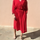 Thumbnail: Vintage Midi Pleated Dress in Red