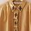 Thumbnail: 80s Vintage Embellished Blouse in Caramel Brown
