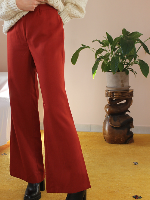 Vintage 70s High Waisted Flared Pants in Brown, W29/L31