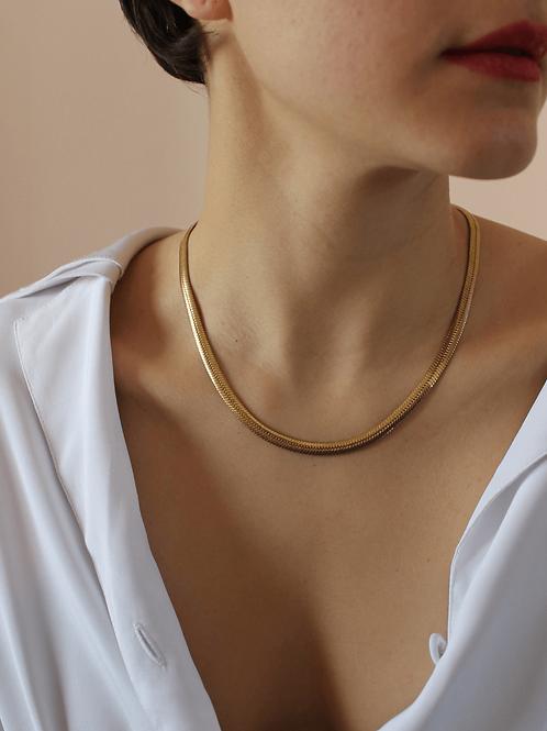 80s Vintage Herringbone Chain Necklace