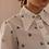 Thumbnail: 90s Vintage Dagger Collar Blouse in White (EU38)