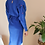 Thumbnail: Vintage Puff Sleeves Slip Dress in Blue