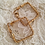 Thumbnail: Vintage Gold Plated Square Earrings