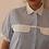 Thumbnail: 90s Vintage Striped Blouse In Blue (EU42)