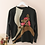 Thumbnail: Vintage Embroidered Sweater in Black