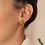 Thumbnail: Vintage 70s Gold Toned Swirl Earrings