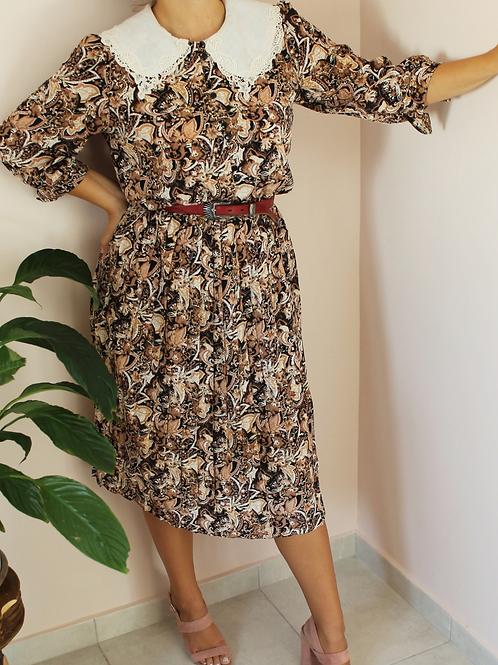 Vintage 70s Paisley Tea Dress