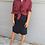 Thumbnail: Vintage Midi Linen Skirt in Navy Blue