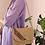 Thumbnail: Italian Vintage Embroidered Straw Bag
